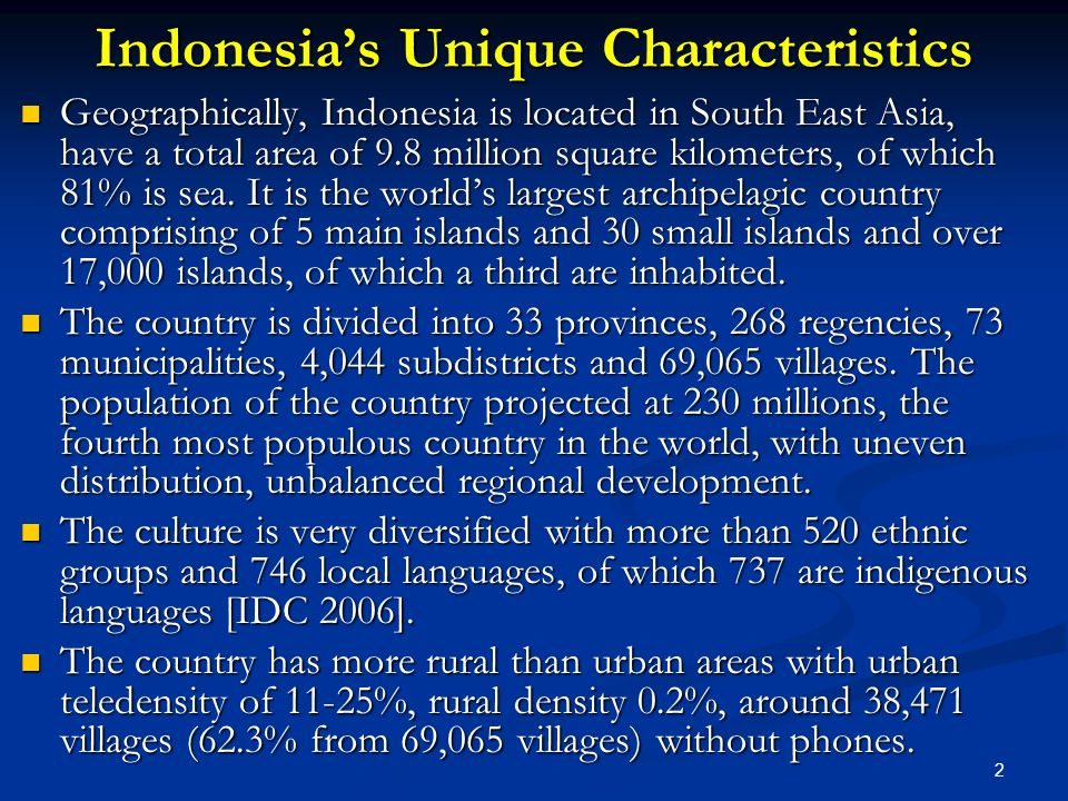 Indonesia's Unique Characteristics