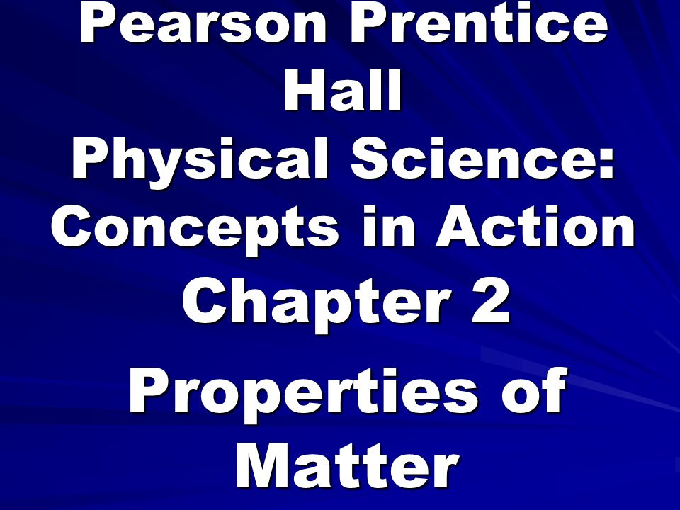 pearson prentice hall physical science concepts in action