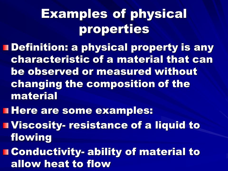 Physical Property Definition In Science