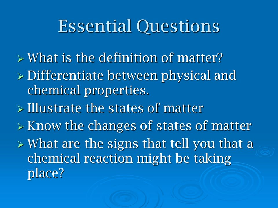 Differentiate Between Physical And Chemical Properties Of Matter