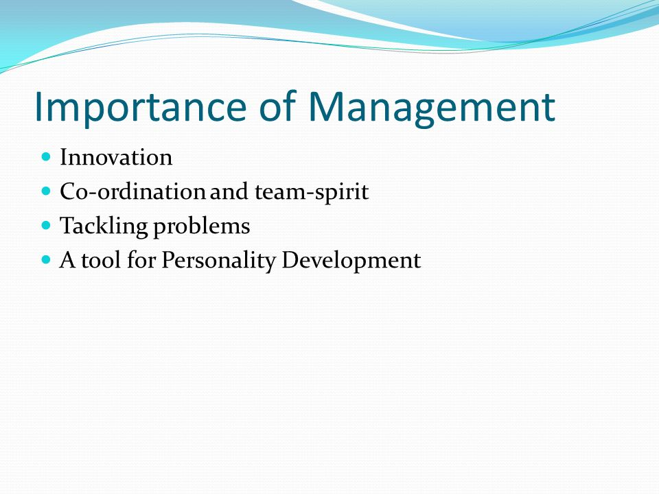 Importance of team management