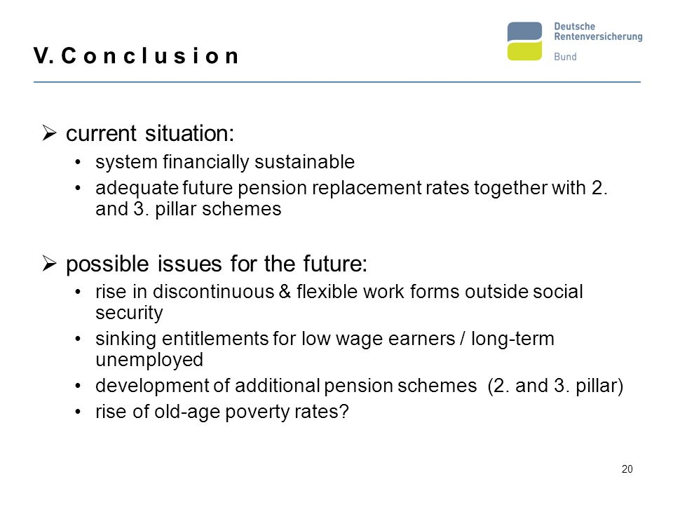 possible issues for the future: