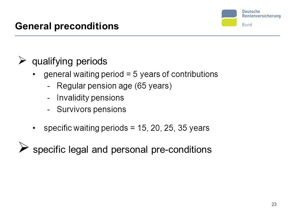 General preconditions
