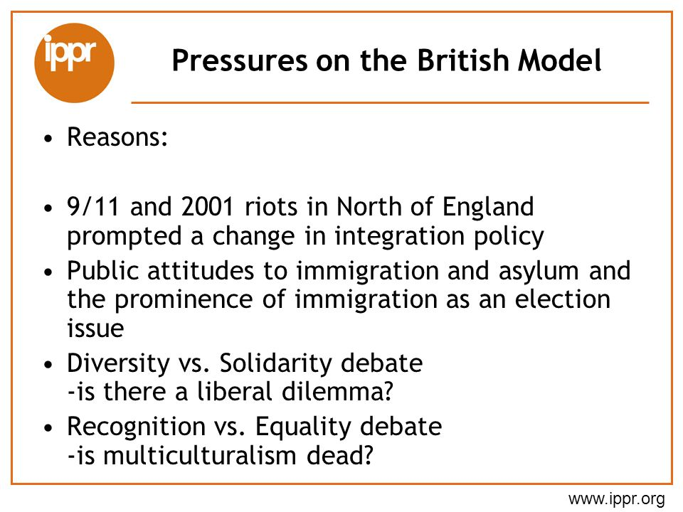 Pressures on the British Model