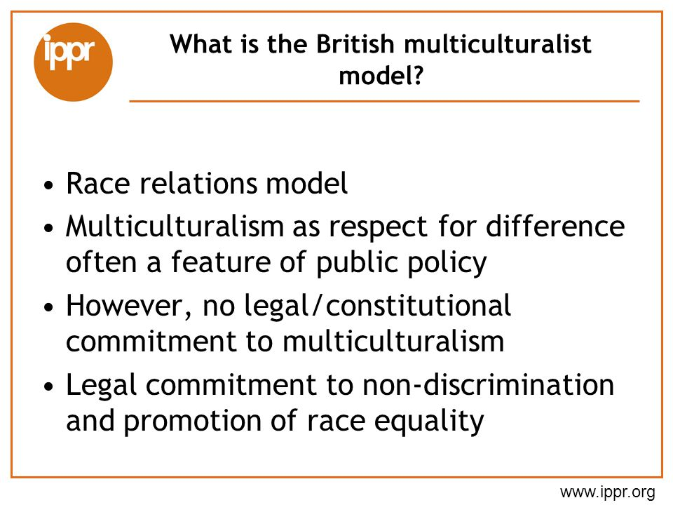 What is the British multiculturalist model