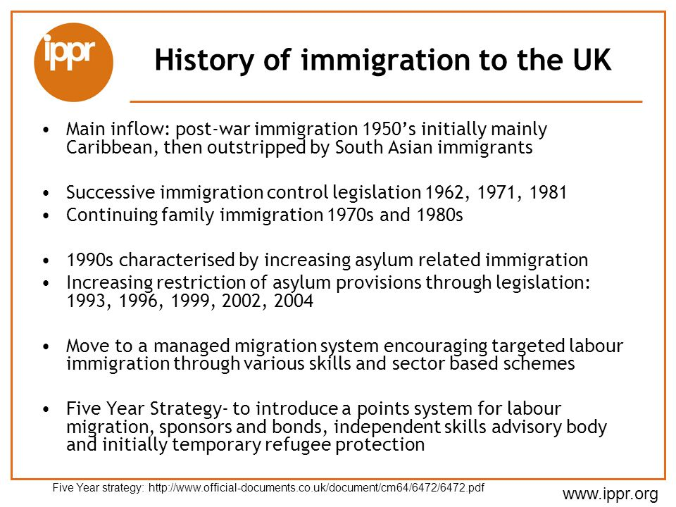 History of immigration to the UK