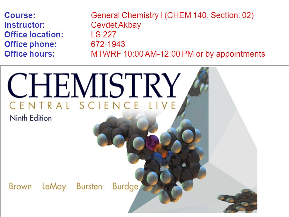 chem 140 Description: preparatory chemistry for science and engineering majors intending to take the general chemistry series (161/162 /163) topics include: atomic structure, stoichiometry, solutions, bonding, acids-bases, and oxidation-reduction.
