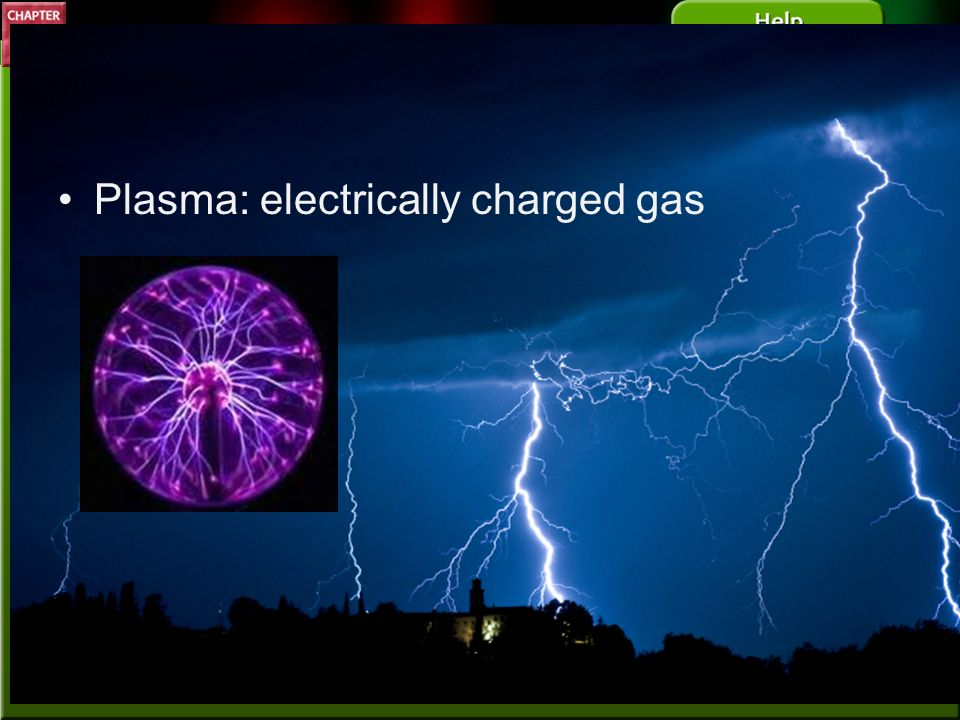 Plasma: electrically charged gas