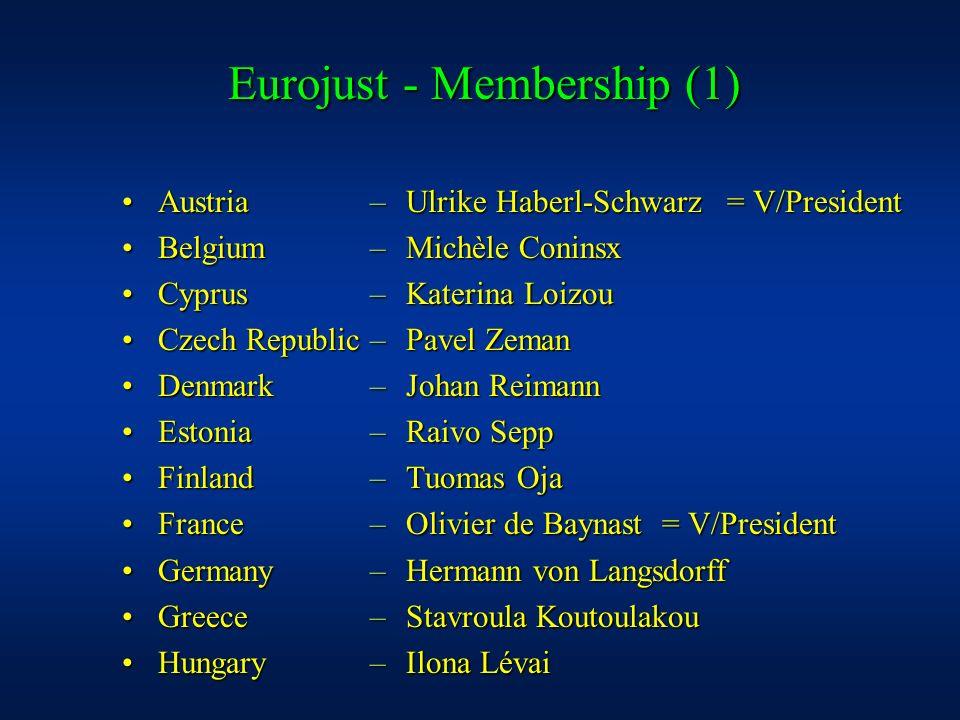 Eurojust - Membership (1)