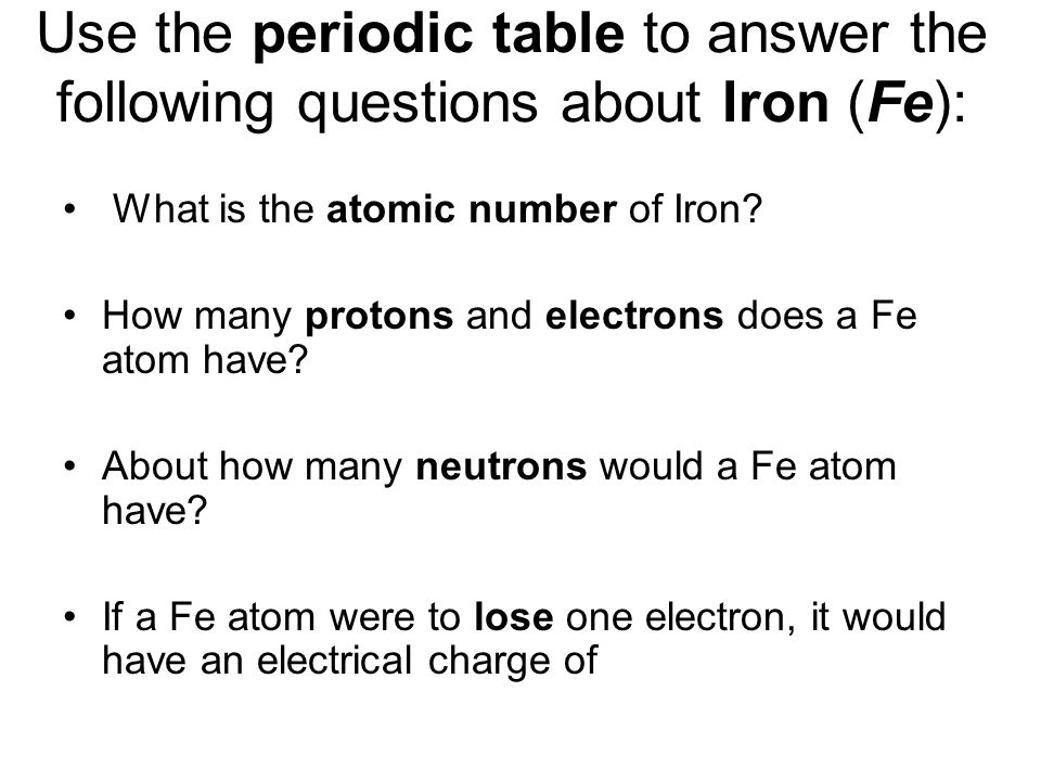 Phys sci week 6 basic chemistry and electricity ppt - What is fe on the periodic table ...