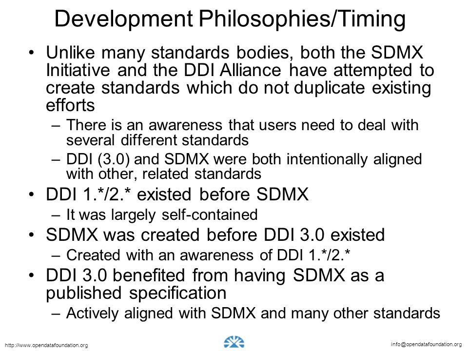Development Philosophies/Timing