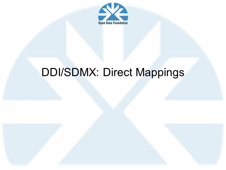 DDI/SDMX: Direct Mappings