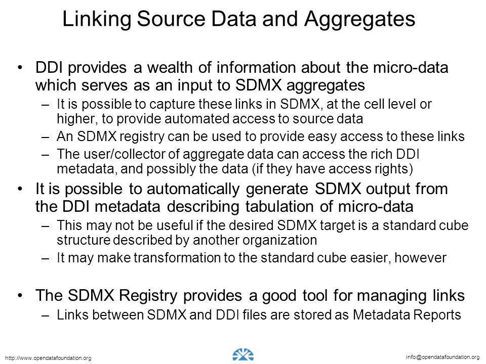 Linking Source Data and Aggregates