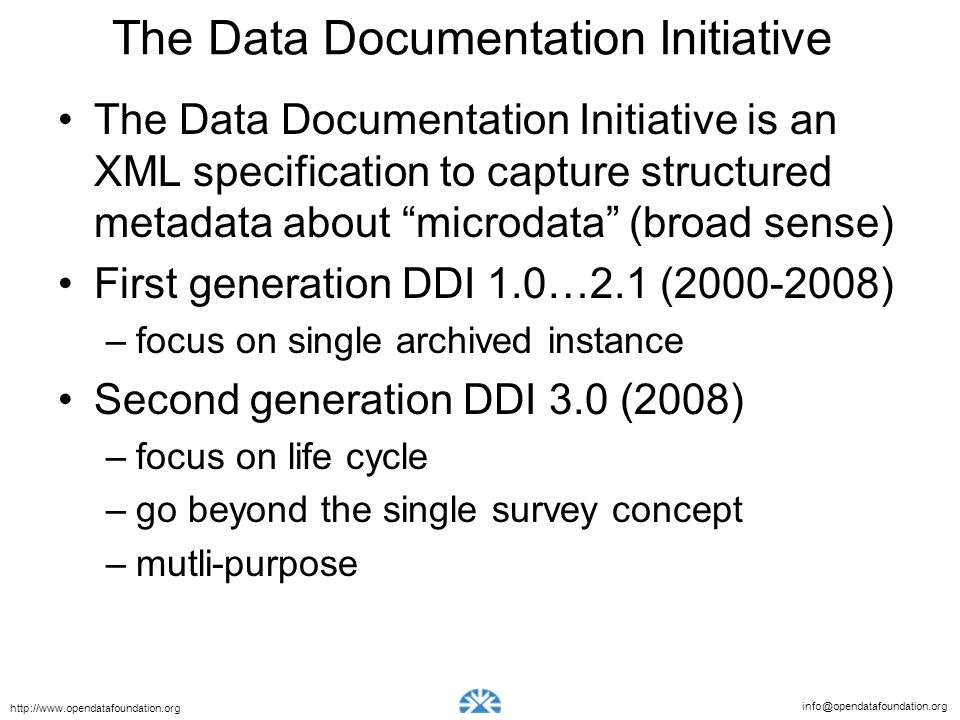 The Data Documentation Initiative