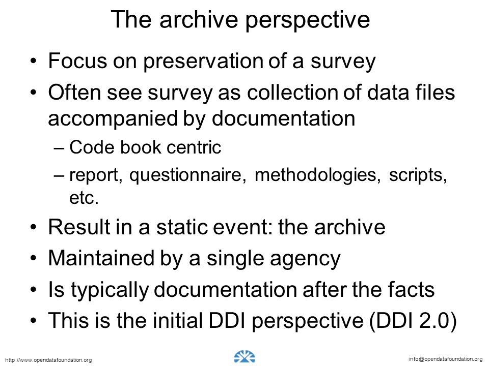 The archive perspective