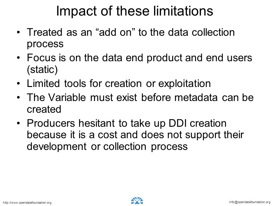 Impact of these limitations