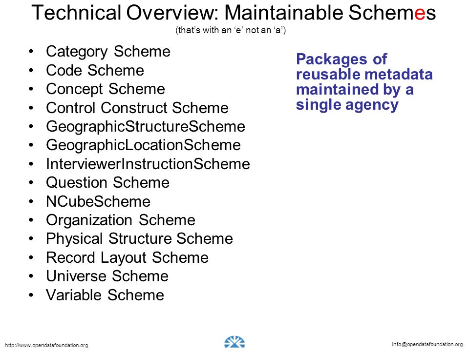 Technical Overview: Maintainable Schemes (that's with an 'e' not an 'a')