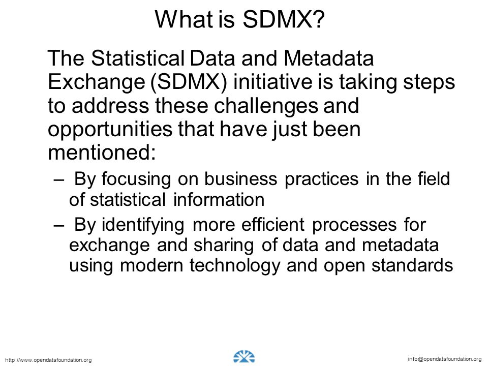 What is SDMX