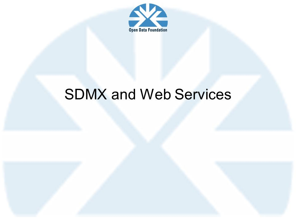 SDMX and Web Services