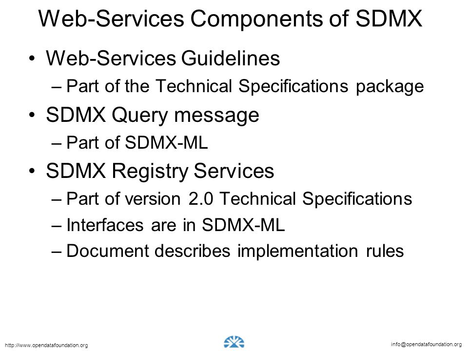 Web-Services Components of SDMX