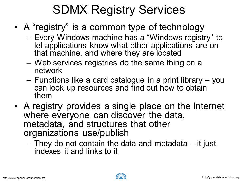 SDMX Registry Services