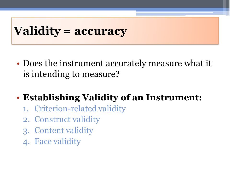 how to find accuracy of instrument