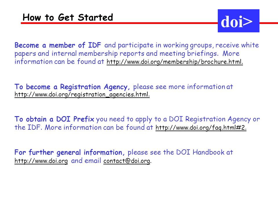 doi> How to Get Started