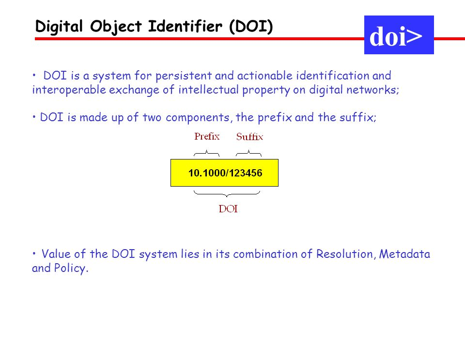 doi> Digital Object Identifier (DOI)