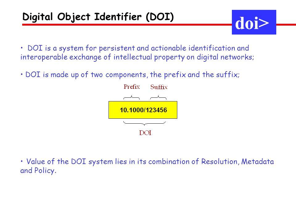 doi> Digital Object Identifier (DOI)