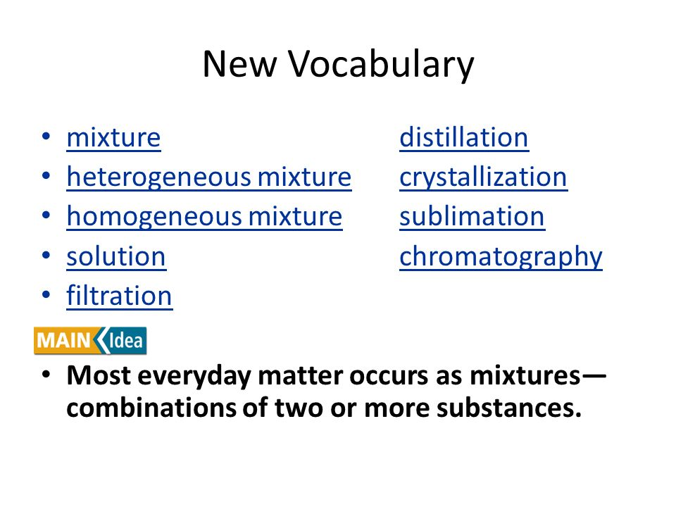 New Vocabulary mixture distillation