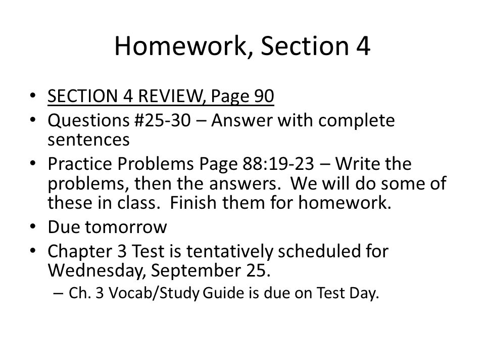 Homework, Section 4 SECTION 4 REVIEW, Page 90