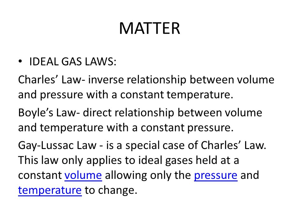 pressure and temperature relationship in ideal gas law definition
