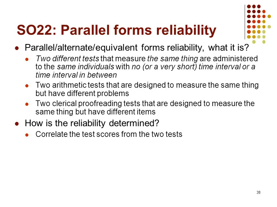 Reliability and Validity - ppt download