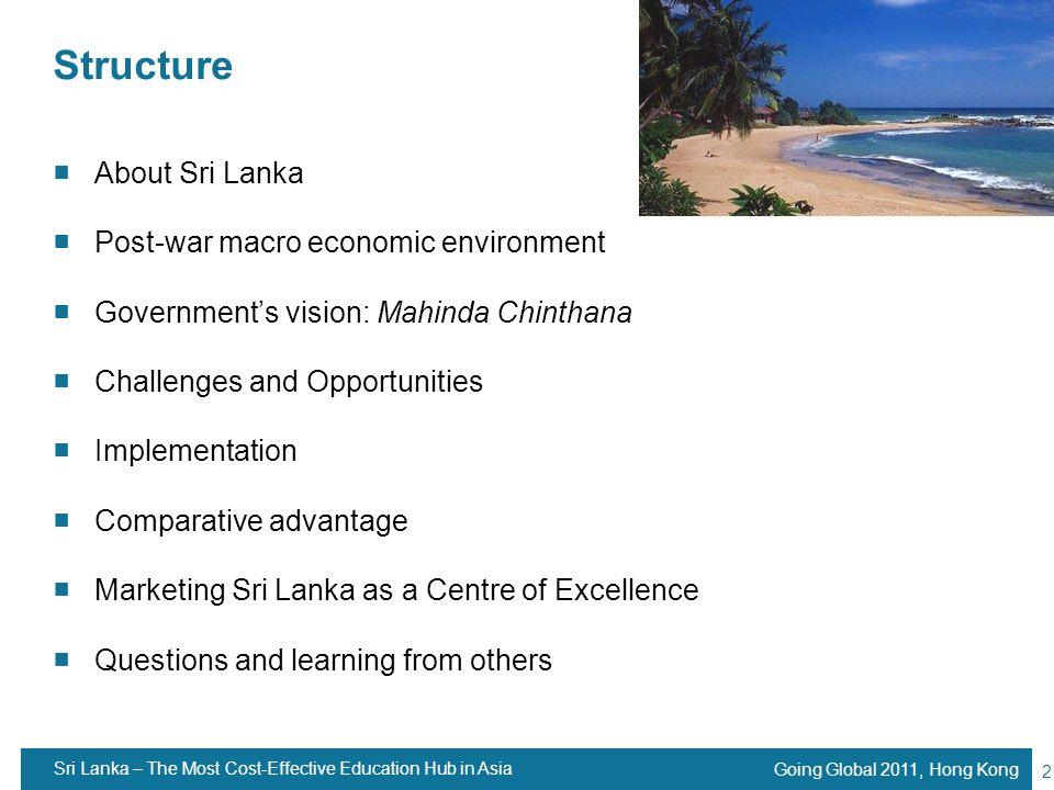 Structure About Sri Lanka Post-war macro economic environment