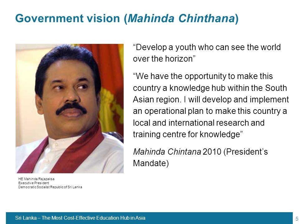 Government vision (Mahinda Chinthana)