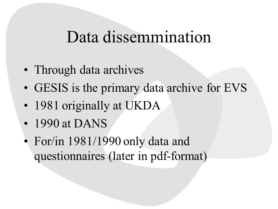 Data dissemmination Through data archives