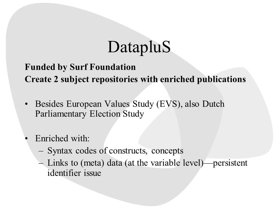 DatapluS Funded by Surf Foundation