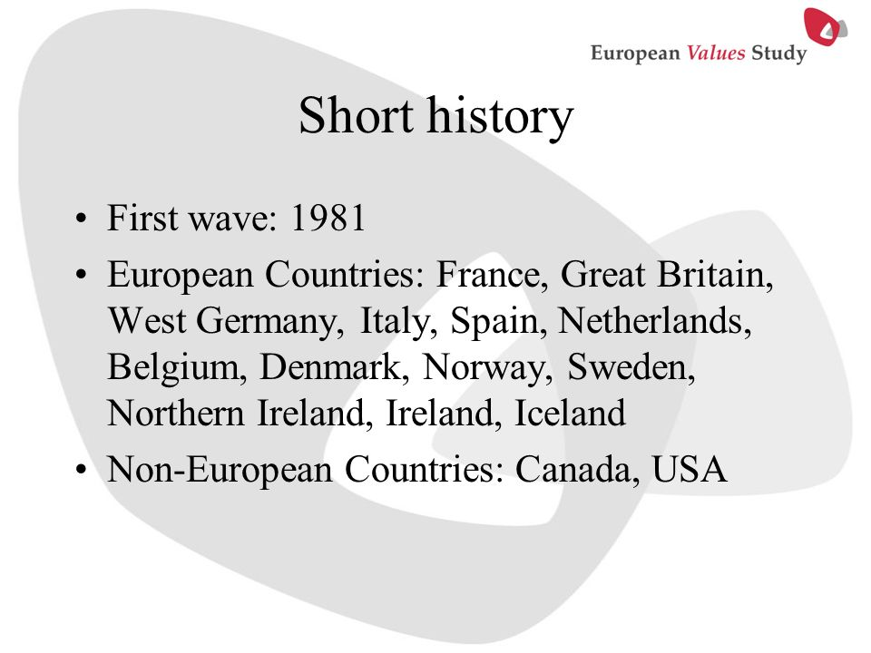 Short history First wave: 1981