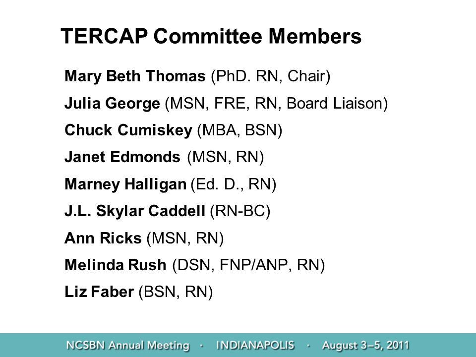 TERCAP Committee Members