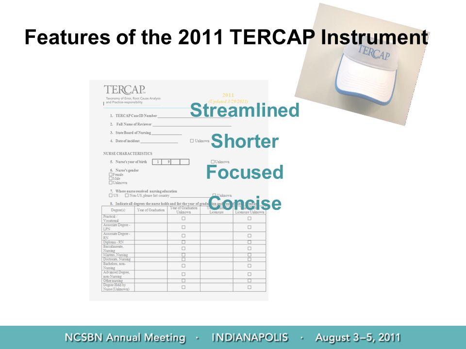 Features of the 2011 TERCAP Instrument