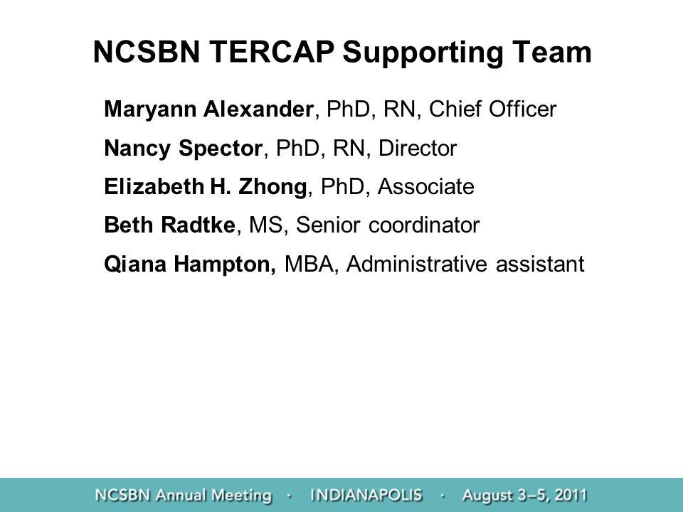NCSBN TERCAP Supporting Team
