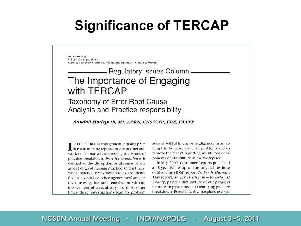 Significance of TERCAP