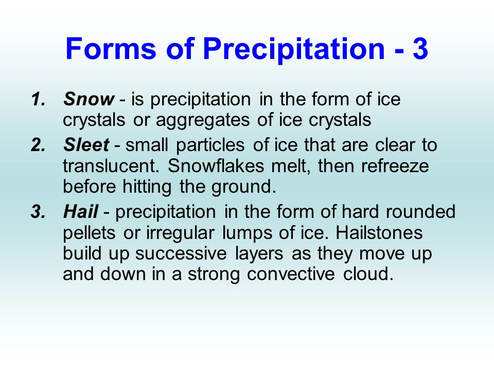 Chapter 5 Forms Of Condensation Amp Precipitation