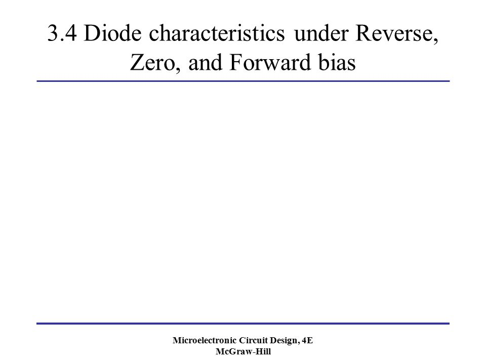 3.4 Diode characteristics under Reverse, Zero, and Forward bias
