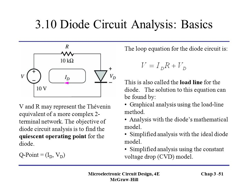 3.10 Diode Circuit Analysis: Basics
