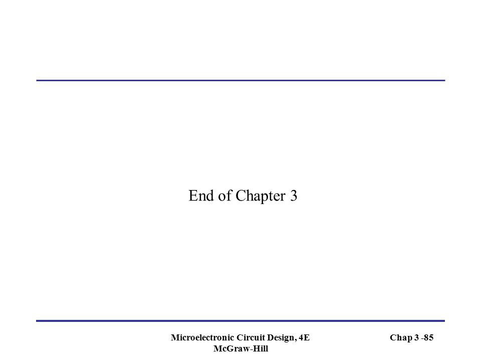 Microelectronic Circuit Design, 4E McGraw-Hill