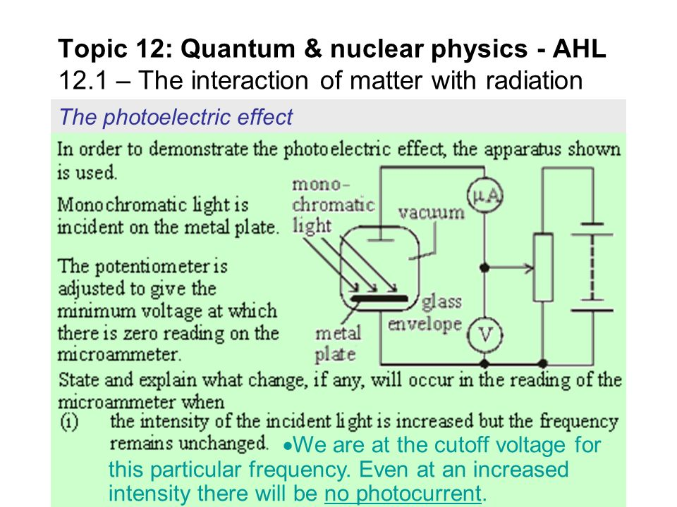 quantum physics the photoelectric effect The photoelectric effect occurs when matter emits electrons after exposure to  lasers are an amazing application of quantum physics — here's why learn something.