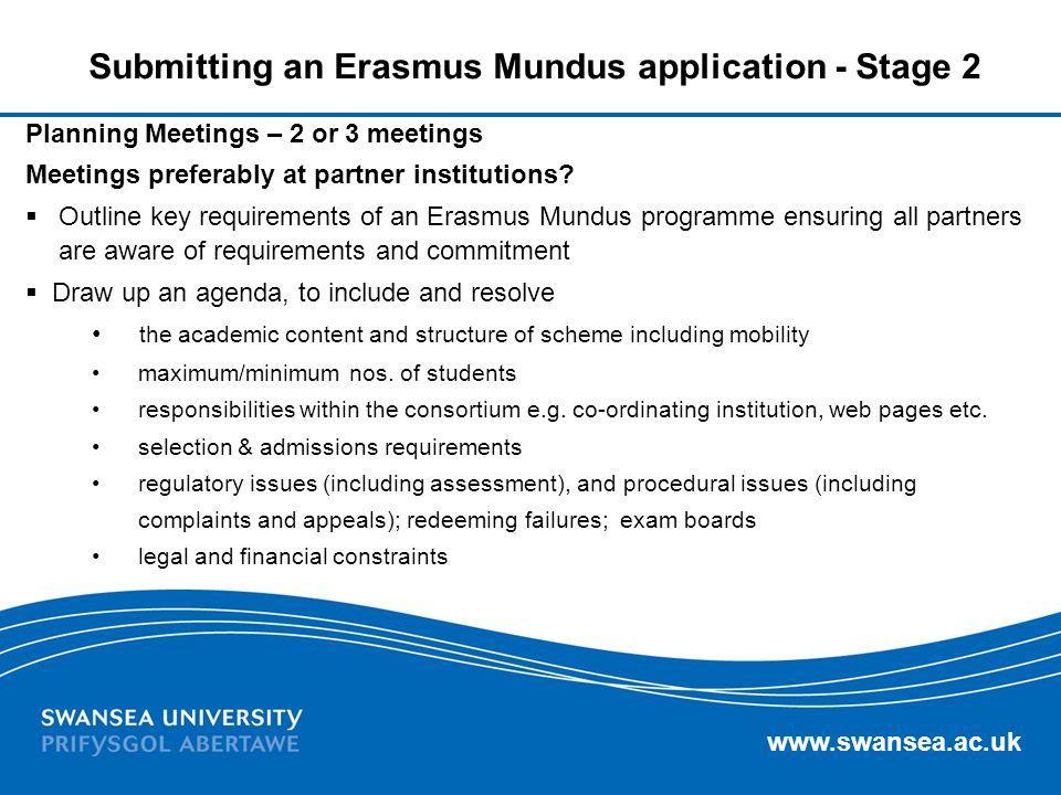Submitting an Erasmus Mundus application - Stage 2