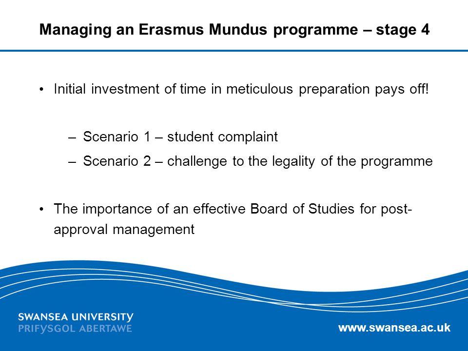 Managing an Erasmus Mundus programme – stage 4