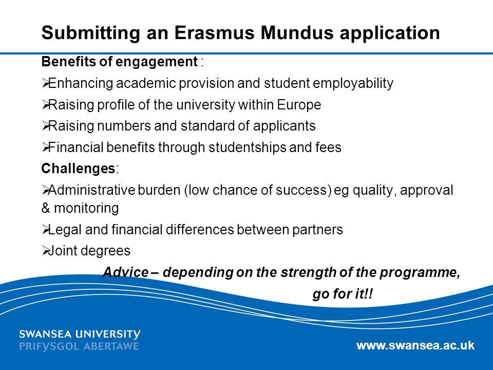 Submitting an Erasmus Mundus application